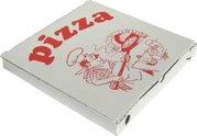 Pizza krabice 28x28x3cm - z vlnité lepenky / ostré hrany / 71928
