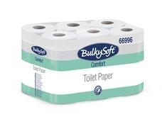 Toaletní papír bílý (100% celuloza) 2-vrst. BULKYSOFT (180 útržků, návin 18m)