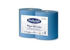 Průmyslová papírová utěrka modrá BulkySoft 2-vr. š.26cm/304m