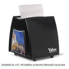 Zásobník na ubrousky Value Bar 11x21cm černý