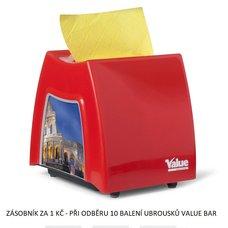 Zásobník na ubrousky Value Bar 11x21cm červený