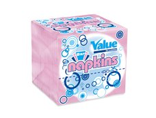 Ubrousek skládaný Value Bar ružový 11x21 cm