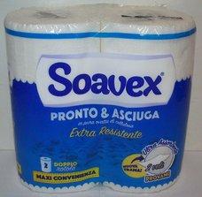 Papírová utěrka v roli SOAVEX PRONTO 2vrstvá / 70 útržků