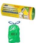 HDPE sáček na odpad zelený - zatahovací 63x73cm - 60l / 69562