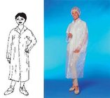 Plášť pro návštěvy bílý (PE)-zapínání na patenty / 68171