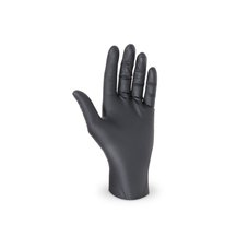 """Rukavice jednorázové - nitrilové nepudrované  velikost """"S""""  černé / 68190"""