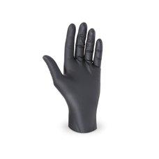 """Rukavice jednorázové - nitrilové nepudrované  velikost """"M""""  černé / 68191"""