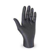 """Rukavice jednorázové - nitrilové nepudrované  velikost  """"L""""  černé / 68192"""