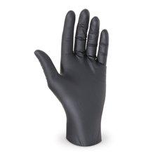"""Rukavice jednorázové - nitrilové nepudrované  velikost  """"XL""""  černé / 68193"""
