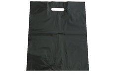 PE taška průhmat černá 35x50cm