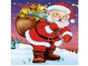 PE taška vánoční - Santa s pytlem 45x50cm