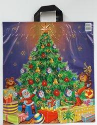 PE taška vánoční - Vánoční stromek 45x50cm