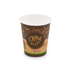 "Papírový kelímek s potiskem ""Coffee to go"" - M 280 ml, prům. 80mm / 76628 z"