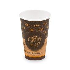 """Papírový kelímek s potiskem """"Coffee to go"""" - L 330 ml, prům. 80mm / 76633"""