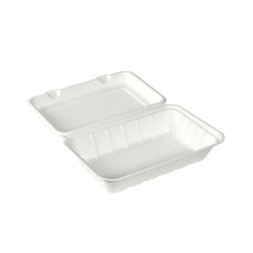 Box na jídlo z bagasy 1-dílný 239x156x63mm / 192070