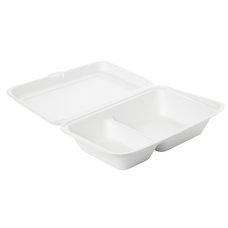 Box na jídlo z bagasy 2-dílný 241x163x65mm / 182543