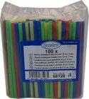 Slámky (brčko) rovné barevné MIX 13cm/pr. 5mm / 66128