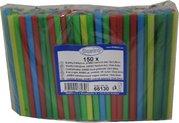 Slámky (brčko) koktejlové JUMBO barevné MIX 13cm/pr. 8mm / 66130