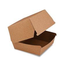 BOX na hamburger hnědý, nepromastitelný 11 x 11 x 9 cm / 48506