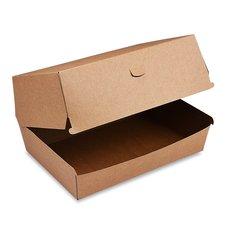 BOX na hamburger PLUS hnědý, nepromastitelný 19,5 x 13,5 x 10 cm / 48508