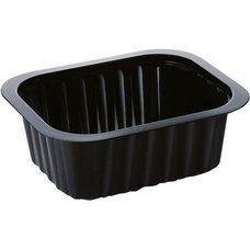 Miska černá (PP)  na polévku 470ml / na zatavení 138x114x53mm / 758002
