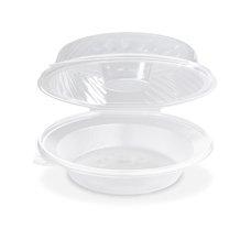 Salátová miska průhledná s víčkem na dresink misku, 1600ml (PP) 21,5 x 22 x 8,1 cm / PP820