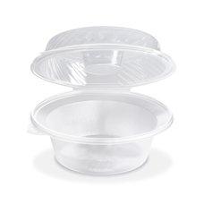 Salátová miska průhledná s víčkem na dresink misku, 2100ml (PP) 21,5 x 22 x 10,5 cm / PP822