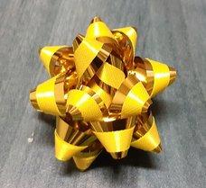 Hvězdička metal. s pruhem prům. 4cm
