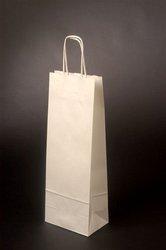 Dárková taška na lahev - LONGER  15x8x40cm bílá