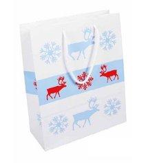 Papírová taška vánoční - Sob 240x100x320 mm / lamino