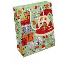 Papírová taška vánoční - Santa Claus 240x100x320 mm / lamino