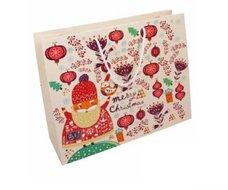 Papírová taška vánoční - Santa Claus 360x120x300 mm / lamino