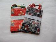 Dárková taška papír. vánoční - A 1 11x17cm