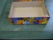 Dárková krabice s průhl. víkem 25x35x10cm